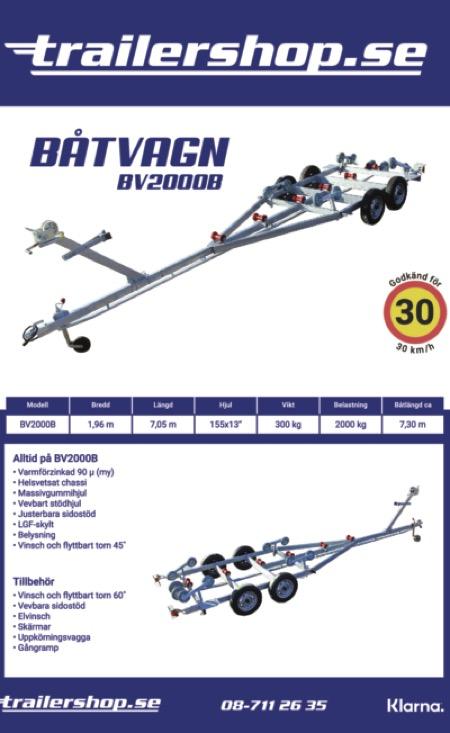 Båtvagn BV-2000