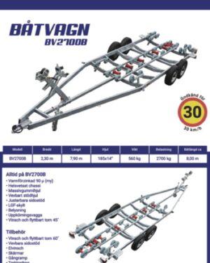 Båtvagn BV-2700