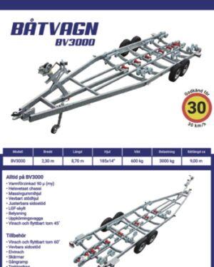 Båtvagn BV-3000