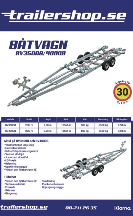Båtvagn BV-3500B