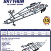 Båtvagn BV-3500BL/4000BL